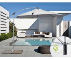 Parasol excentrico sombrilla de jardin 3x3 aluminio solar usb