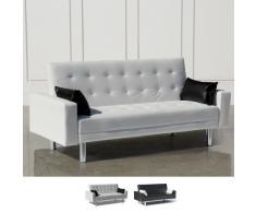 Sofá cama 2 plazas en la imitación de cuero con los brazos y las al...