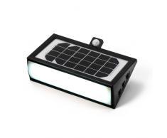Lampara solar aplique de pared LED detector presencia jardin externo