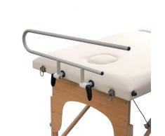Soporte portarrollos de aluminio para camillas de masaje