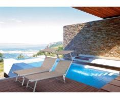 2 Tumbonas de playa aluminio parasol piscina SANTORINI Limited