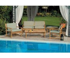Conjunto de jardin salon de bambú de Bombay sofá sillones mesa de c...