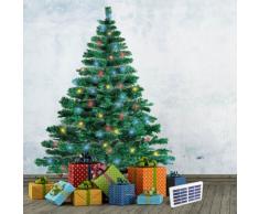 Árbol de Navidad artificial sintético CORTINA 210 cm con luces LED ...