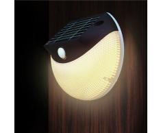 Aplique de pared solar LED lampara mural luz jardin externo MOON