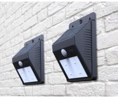 Apliques de pared solares LED lamparas jardin luces murales externo...