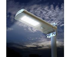 Farola solar lampara LED para calle luz jardin externo 24 super LED