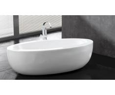 Bañera oval color blanco Basilia