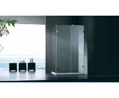 Mampara de ducha rectangular 120x80 cm de vidrio - Jago