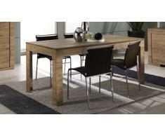 Mesa de comedor con extensión de madera - Emiliano