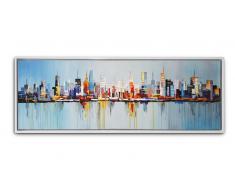 Cuadro moderno pintura al óleo 150x50cm - Hougthon