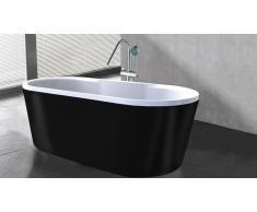 Bañera libre de instalación color negro Elena