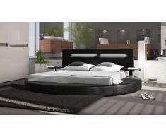 Cama redonda de diseño - Noely - cama con iluminación