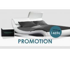 Ear Blanco/Negro 180 cm -Dormitorio completo - OFERTA PROMOCIONAL
