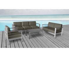 Salón de jardín Orolo sofá de 3 + 2 plazas + sillón + mesa de centro