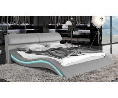 Cama con LED - Macky - cama de piel