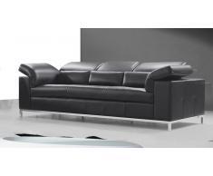 Sofá de 3 plazas Melton de piel moderno
