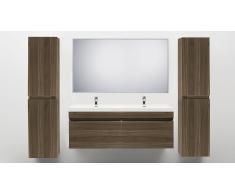 Mueble de baño con lavabo doble 144 cm Giovanna