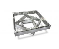 Mesa de centro de espejo y vidrio - Fizuli