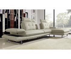 Sofá de ángulo relax de tela con respaldo modulable - Kosveg