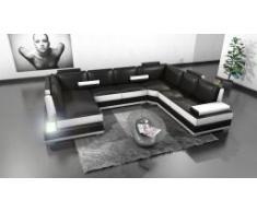 Lowing - Sofá de ángulo panorámico de piel con luz