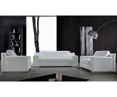 Cameron - salón de piel : sofá 3 plazas + sofá 2 plazas + sillón