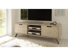 Mueble TV diseño de madera con pie metal - Nekho