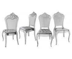 Lote de 4 sillas de diseño de policarbonato - Astorga
