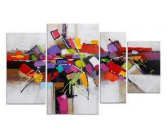 Conjunto 4 cuadros moderno pintura al óleo - Sarny