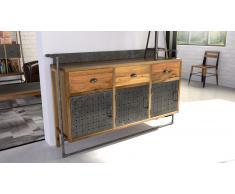 Aparador de estilo industrial de madera y metal - Sutton