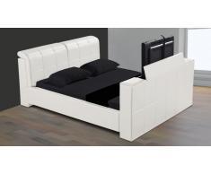 Cama multimedia de diseño de piel - Vernon - cama TV
