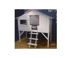 Cama de niño cabaña de madera maciza 90x190 cm - Cabane