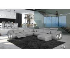 Nesta - sofá de ángulo panorámico con iluminación