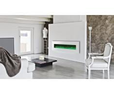 Luxury Kamin 72 Blanca - Chimenea eléctrica 182 cm