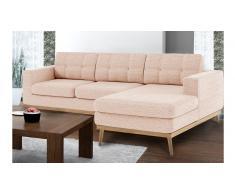 Sofá de ángulo acolchonado estilo escandinavo de tela - Tolbon