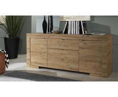 Aparador diseño de madera 2 puertas 3 cajones - Emiliano