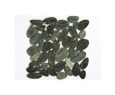 Mosaico de guijarros piedras naturales negras - Mogalet Taglio