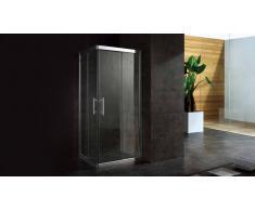 Mampara de ducha de vidrio 80x80 o 90x90 cm - Lelia