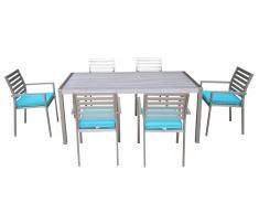 Marica - Sillas y mesa de comedor para el exterior