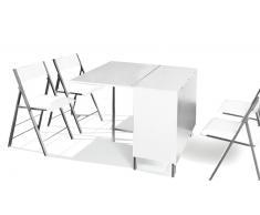 Hub - Mesa de madera modulable con 4 sillas