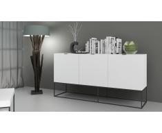 Kufstein - Aparador color blanco con patas de metal