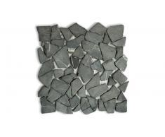 Mosaico de guijarros piedras naturales negras -Mogalet Scuro