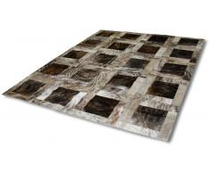 Roca - Alfombra patchwork rectangular piel de vaca