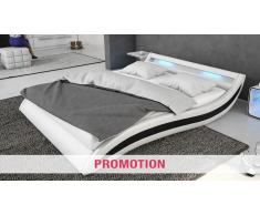 Cama moderna de polipiel con luz Led y somier - Harros