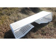 Bench - Banco aluminio thermo-lacado blanco