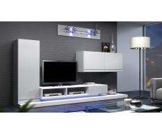 Mueble TV diseño de madera con luz led - Balbek