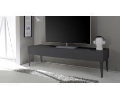 Mueble TV de diseño 3 cajones lacado mate gris - Galatik