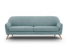 Sofá 3 plazas tapizado de tela - Skanor