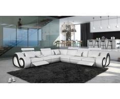 Nesta - sofá de ángulo XL en polipiel con luces