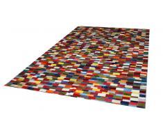 Alfombra rectangular patchwork de piel de vaca - Rosario