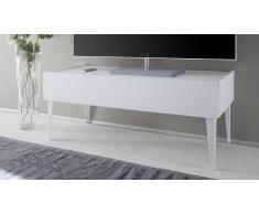 Mueble TV de diseño lacado blanco 2 cajones - Galatik
